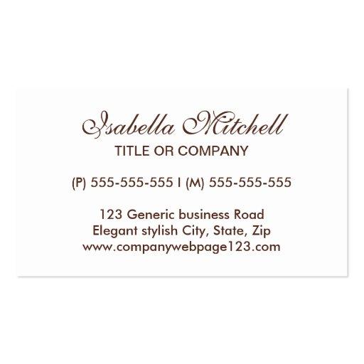 Simple elegant generic business or profile card business card