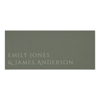 SIMPLE ELEGANT GOLD GREY TYPOGRAPHY RECEPTION CARD