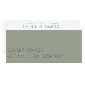 SIMPLE ELEGANT GOLD GREY TYPOGRAPHY wedding card