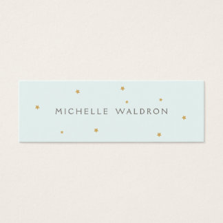 Simple Elegant Gold Stars Mommy Card