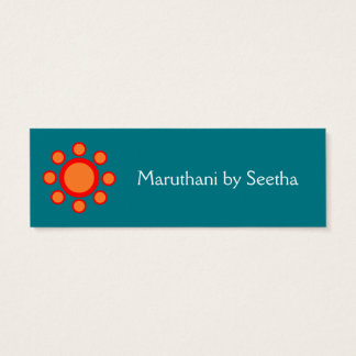 simple elegant henna pattern mini business card