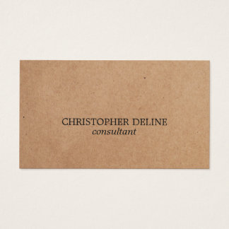 Simple Elegant Kraft Paper Consultant Business Card