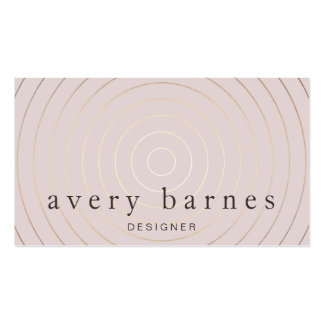 Simple Elegant Mauve and Gold Professional Modern Business Card