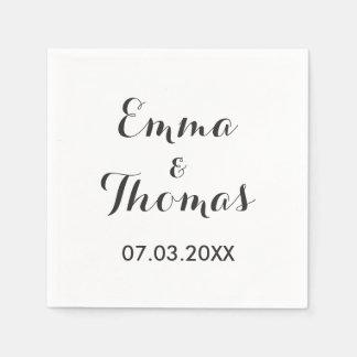 Simple Elegant | Modern Wedding Napkins