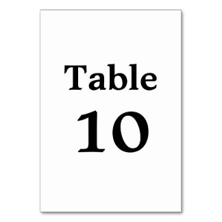 Simple Elegant | Modern Wedding Table Number Card