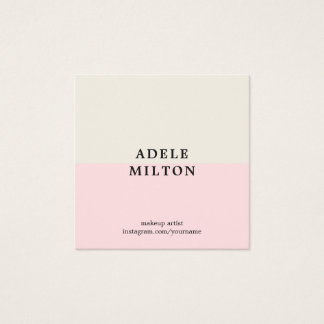 Simple Elegant Pastel Makeup Artist Square Business Card