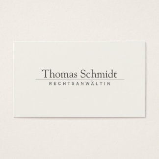 Simple Elegant Professional Cream Business Card