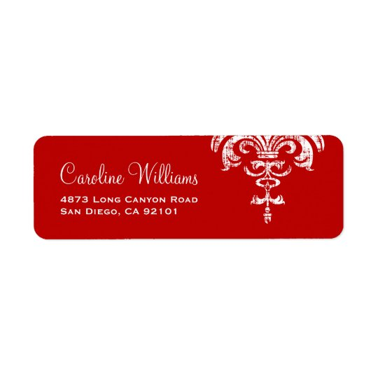 Simple Elegant Return Address Label