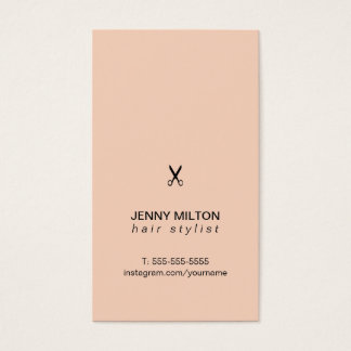 Simple Elegant Rose Black Scissor Hair Stylist Business Card