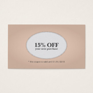 Simple Elegant Rose White Discount Coupon Beauty Business Card