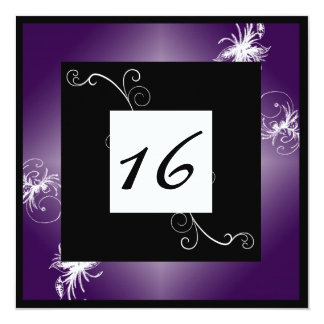 SImple Elegant Sweet 16 Invite (Purple)