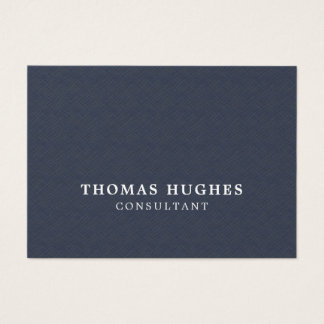Simple Elegant Texture Blue White Consultant Business Card