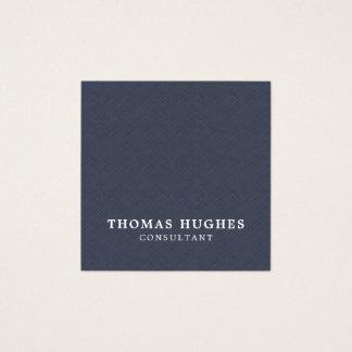 Simple Elegant Texture Blue White Consultant Square Business Card