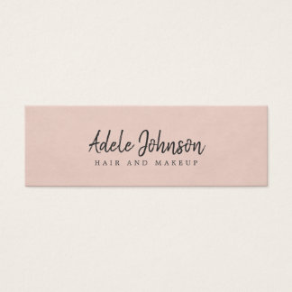 Simple Elegant Texture Rose Beauty Consultant Mini Business Card
