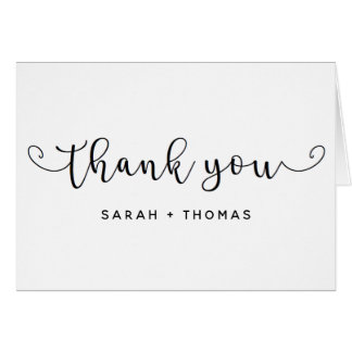 Simple Elegant Thank You Note Card