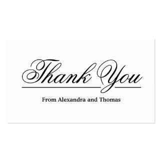 Simple Elegant Thank You Pack Of Standard Business Cards