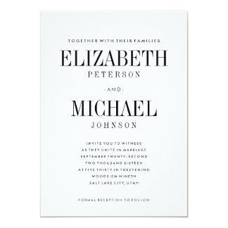 Simple Elegant Type Wedding Invitation Template
