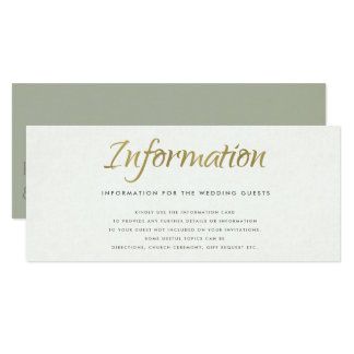 SIMPLE ELEGANT WHITE GREY TYPOGRAPHY Information Card