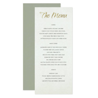 SIMPLE ELEGANT WHITE GREY TYPOGRAPHY menu card