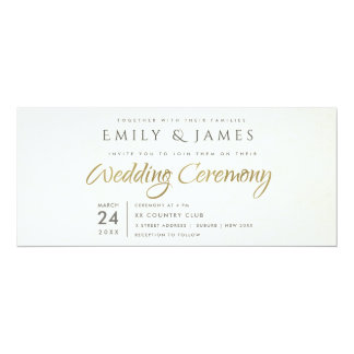 SIMPLE ELEGANT WHITE GREY TYPOGRAPHY wedding card