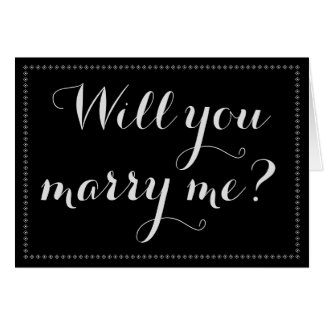 """Simple & Elegant """"Will you marry me?"""" Card"""