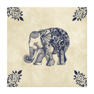 Simple Elephant Canvas Print