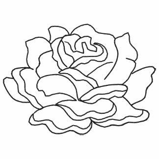 Simple Embroidered Rose