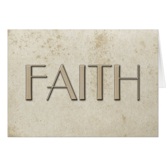 Simple Faith Vintage Stained Paper Card