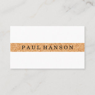 Cork business cards business card printing zazzle ca simple faux cork print business card reheart Images
