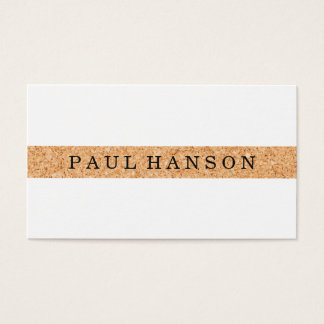 Simple Faux Cork Print Business Card