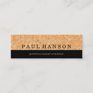 Cork business cards business card printing zazzle ca simple faux cork print mini business card reheart Images