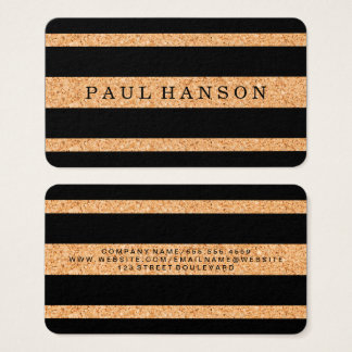 Simple Faux Cork Stripes / Variation Business Card