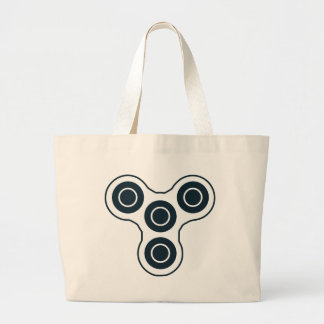Simple Fidget Spinner Large Tote Bag