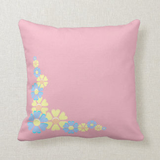 Simple Floral Border Design Throw Pillow