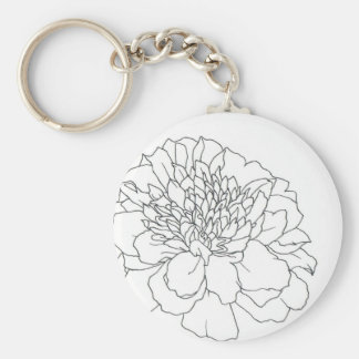 Simple Floral Marigold Keychain