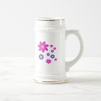 Simple floral mix beer stein