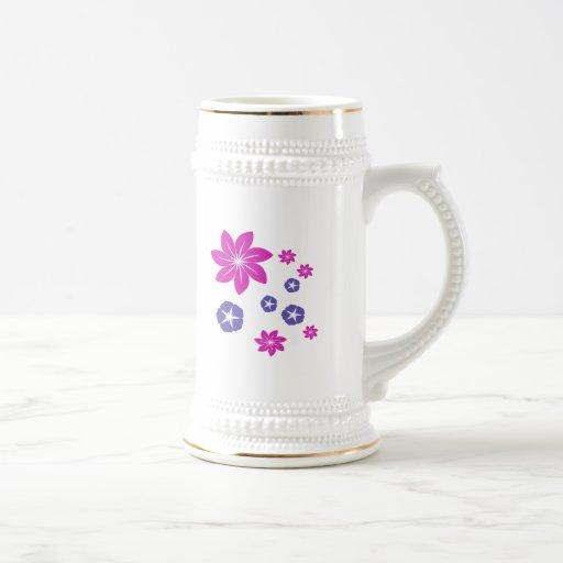 Simple floral mix mug