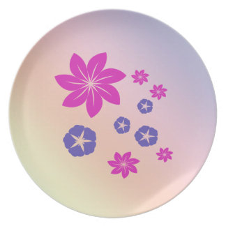 Simple floral mix with color harmony dinner plate