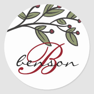 Simple Floral Monogram Sticker