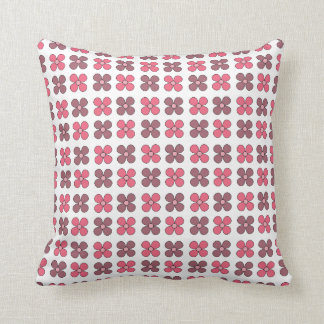 Simple Floral Pattern - Pink Throw Pillows