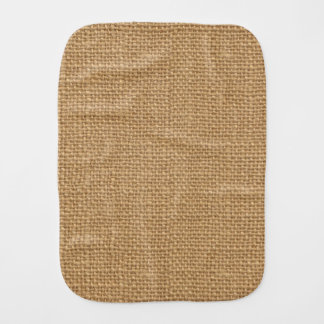 Simple floral rustic burlap texture burp cloth