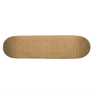 Simple floral rustic burlap texture custom skateboard