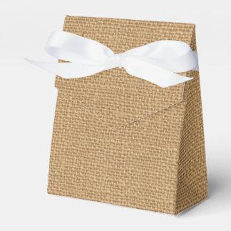 Simple floral rustic burlap texture favor box