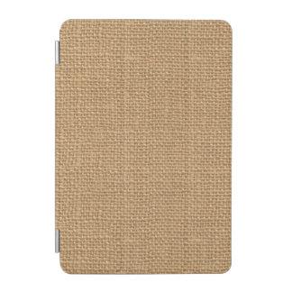Simple floral rustic burlap texture iPad mini cover