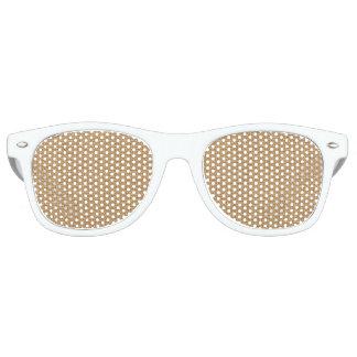 Simple floral rustic burlap texture retro sunglasses