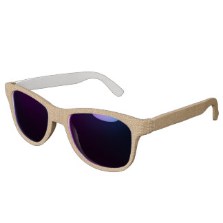 Simple floral rustic burlap texture sunglasses