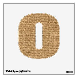Simple floral rustic burlap texture wall decal
