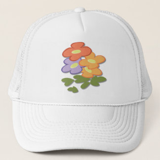 Simple Floral Trucker Hat