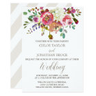 Simple Floral Watercolor Bouquet Wedding Card