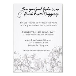 Simple Floral Wedding Design Card